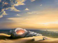Verlaten strand, verlaten droom