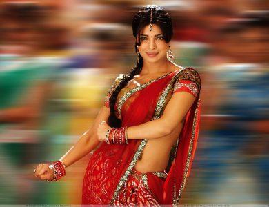 De rode sari